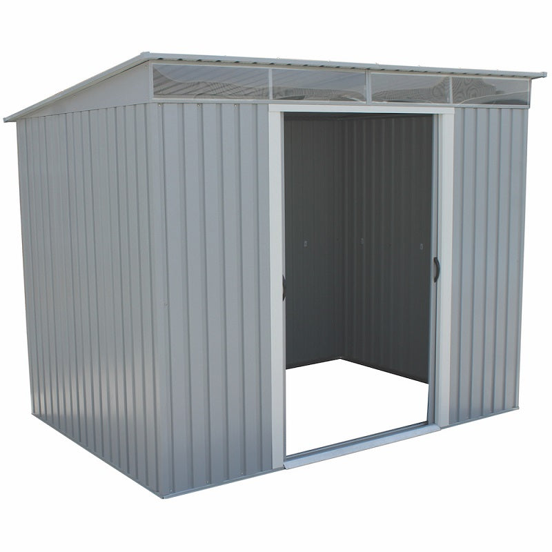 DuraMax 8'x6' Pent Roof Metal Shed with Skylights (50371) - MKSheds