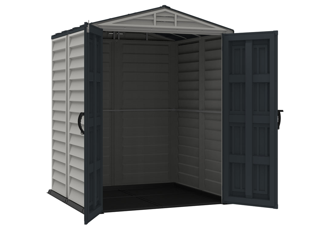 DuraMax Yardmate Plus 5'x5' Vinyl Shed with Floor Kit (35525) - MKSheds
