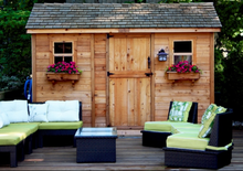 Outdoor Living Today 12'x8' Cabana Garden Shed (CB128)