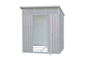 DuraMax 8'x6' Palladium Metal Shed with Floor Kit (41372) - MKSheds