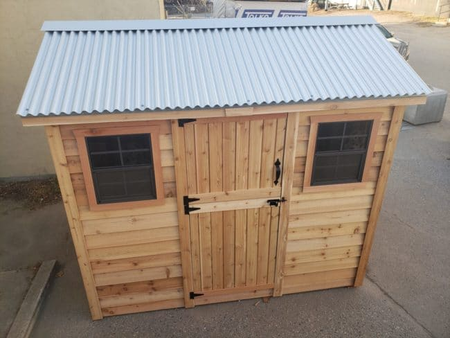Outdoor Living Today 9'x6' Cabana Garden Shed (CB96BEV-PLY and CB96BEV-METAL)