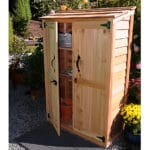 Outdoor Living Today 4'x2' Garden Chalet Cedar Wood Shed (GC42) - MKSheds