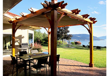 Outdoor Living Today 8'x10' Breeze Pergola (BZ810WRC) - 4 Post with Retractable Canopy - MKSheds