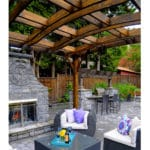 Outdoor Living Today 10'x12' Arched Breeze Cedar Pergola (BZ1012ARCH) - 4 Post - MKSheds