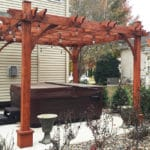 Outdoor Living Today 10'x12' Breeze Cedar Wood Pergola (BZ1012) - 4 Post - MKSheds