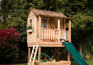 Outdoor Living Today 6'x6' Little Squirt Playhouse (LSP66SBOX) with Sandbox