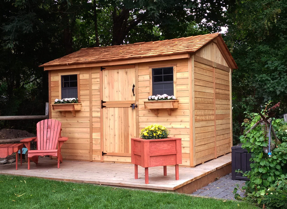Outdoor Living Today 12'x8' Cabana Garden Shed (CB128) - MKSheds