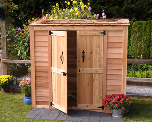 Outdoor Living Today 6'x3' Grand Garden Chalet Cedar Shed (GGC63SR) with Cedar Shingle Roof - MKSheds