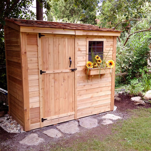Outdoor Living Today 8'x4' SpaceSaver with Single Door (SS84) - MKSheds