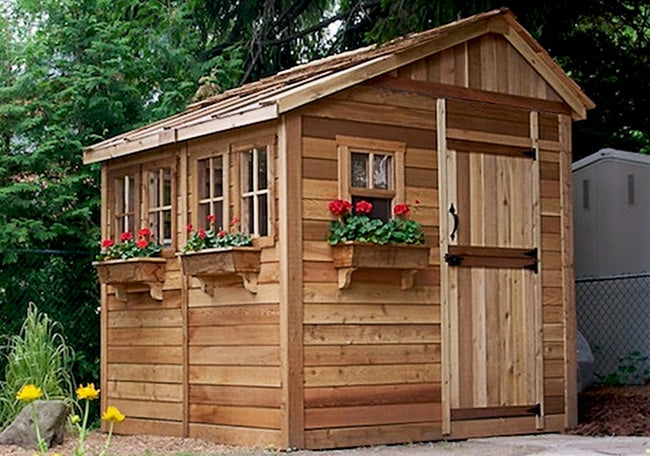 Outdoor Living Today 8'x8' Sunshed Garden Shed (SSGS88) - MKSheds
