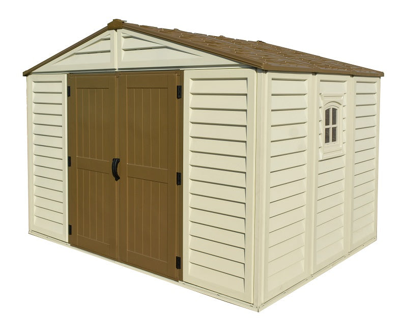DuraMax Woodbridge Plus 10'x8' Vinyl Shed (40214) - MKSheds