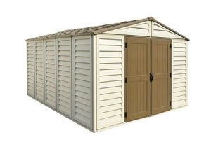 DuraMax Woodbridge Plus 10'x13' Vinyl Shed with Floor Kit (40234) - MKSheds