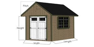 EZ-Fit 12'x20' Heritage Panelized Wood Shed Kit with Double Doors and Windows - MKSheds