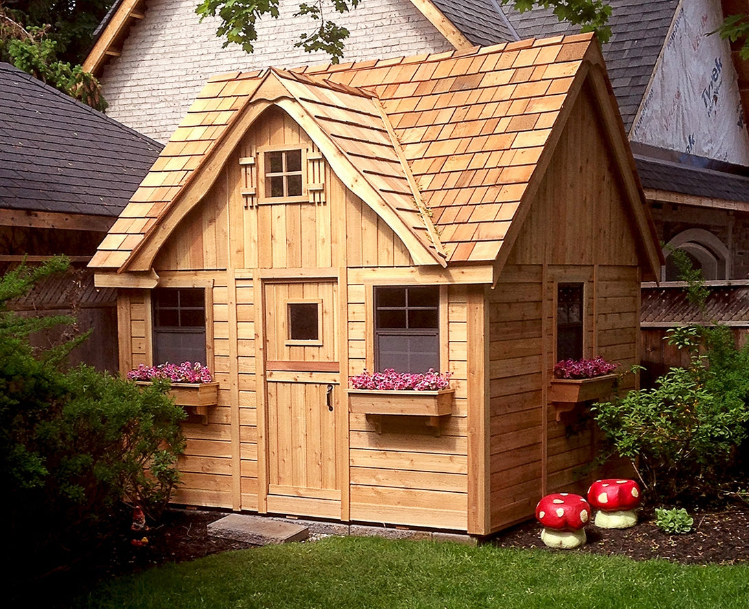 Outdoor Living Today 9'x9' Lauren's Cottage Playhouse (LCP99) - MKSheds