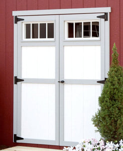 "EZ-Fit Transom Windows in 60"" Double Doors - MKSheds"