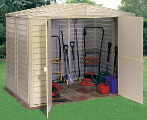 Duramax 8'x6' DuraMate Vinyl Shed with Floor Kit (00184) - MKSheds