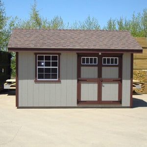 EZ-Fit 12'x16' Heritage Panelized Wood Shed Kit with Double Doors and Windows - MKSheds