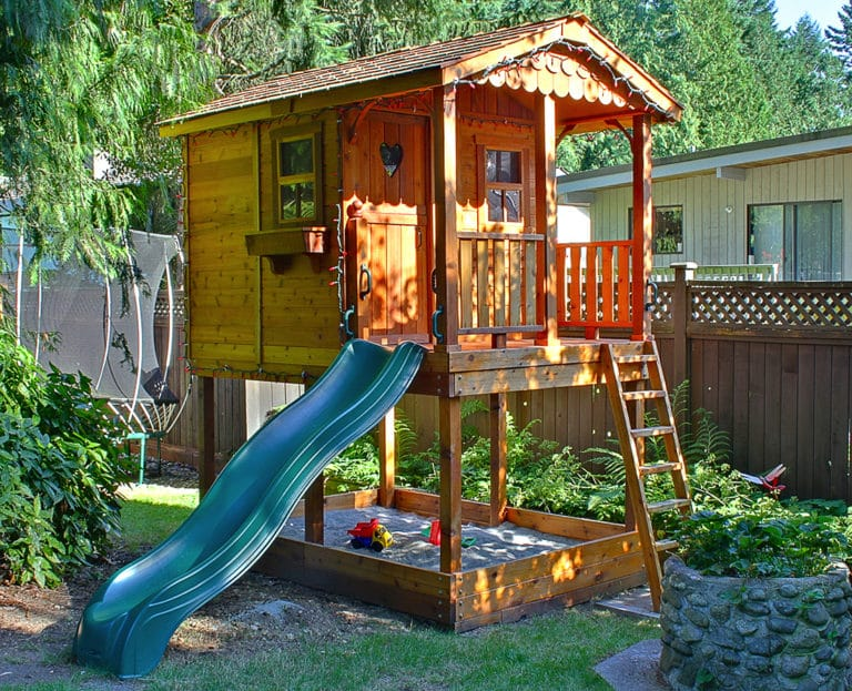 Outdoor Living Today 6'x9' Sunflower Playhouse with Sandbox (SP69SBOX) - MKSheds