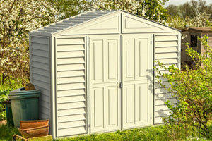 DuraMax 10'x3' SidePro Vinyl Shed with Floor Kit (98001)