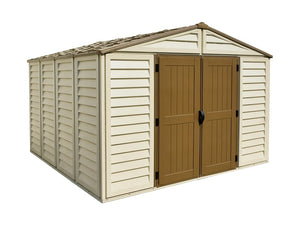 DuraMax Woodbridge Plus 10'x10' Vinyl Shed with Floor Kit (40224) - MKSheds