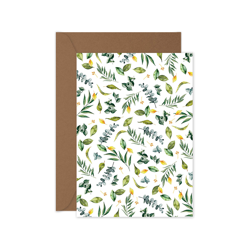 Green Leaves Card