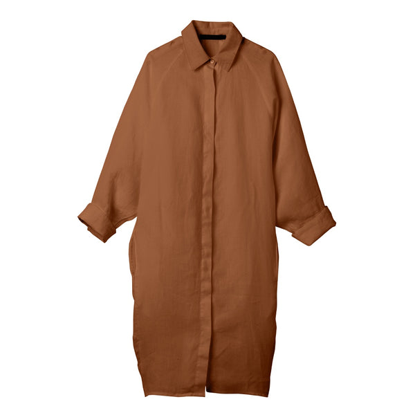 Tobacco Evie Shirt Dress Large