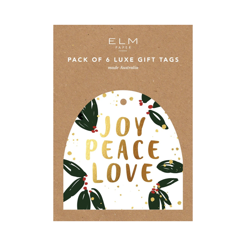 Joy Peace Love Pack of 6