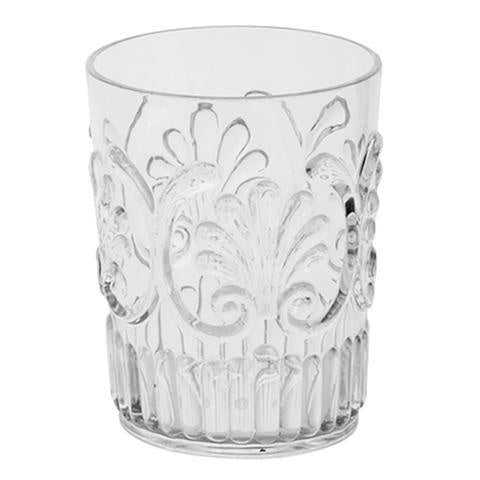 Scollop Acrylic Tumbler Clear