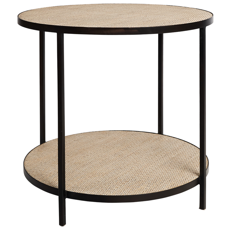 Manhattan Round Lamp Table Black