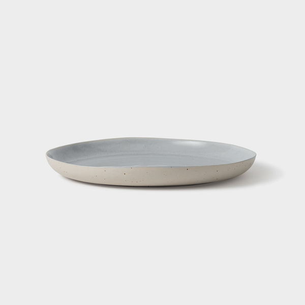 Finch Round Platter Grey/Natural 35.5cm