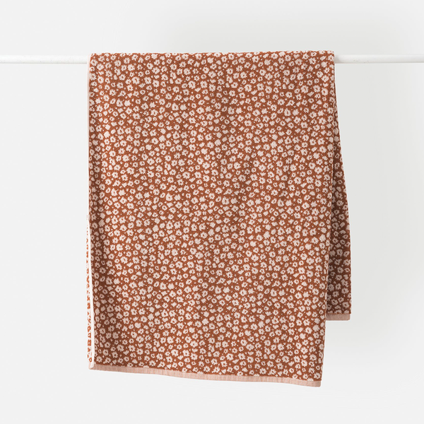 Forget Me Not Organic Hand Towel Chestnut