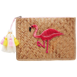 Summertime Flamingo Clutch