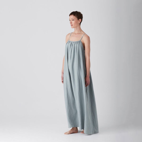 Sage Iris Gathered Maxi Dress Medium