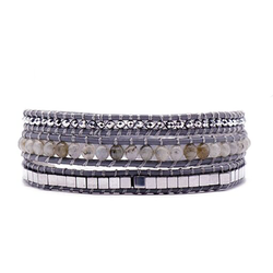 Smoky 3 Wrap Bracelet