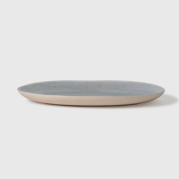 Finch Oval Platter Grey/Natural