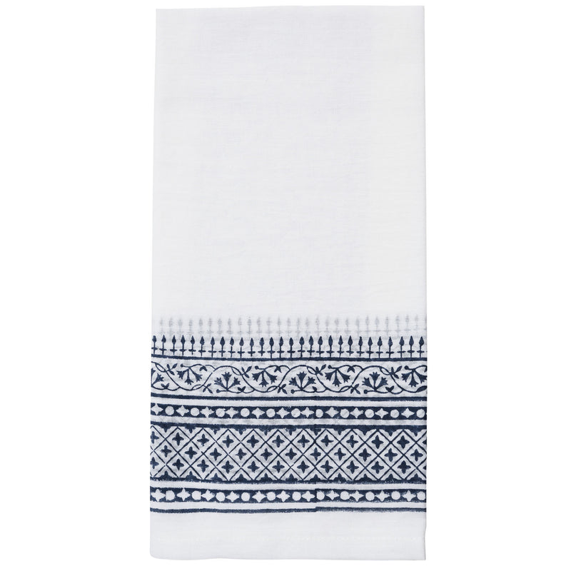 Campana Border Napkin Set/4 Navy