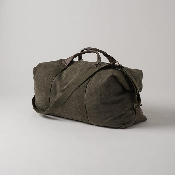La Paz Waxed Canvas & Leather- Weekender Olive