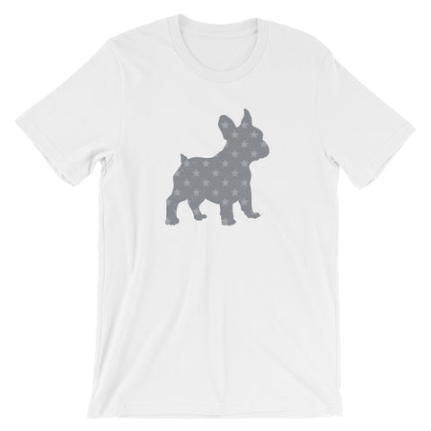 French Bulldog with Stars Short-Sleeve Unisex T-Shirt