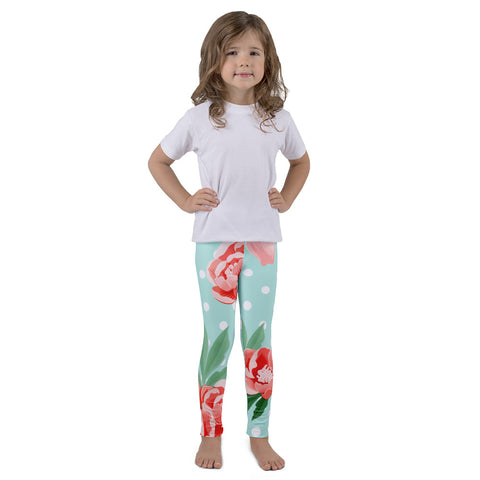 Peonies and Polka Dots Kid's leggings