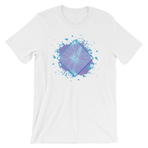 Geometric Hibiscus Splash Short-Sleeve Unisex T-Shirt