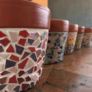 How to Mosaic a Terracotta Pot