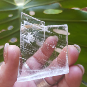 Clear Selenite Slab