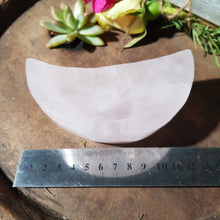 Load image into Gallery viewer, Rose Quartz Moon Bowl 2