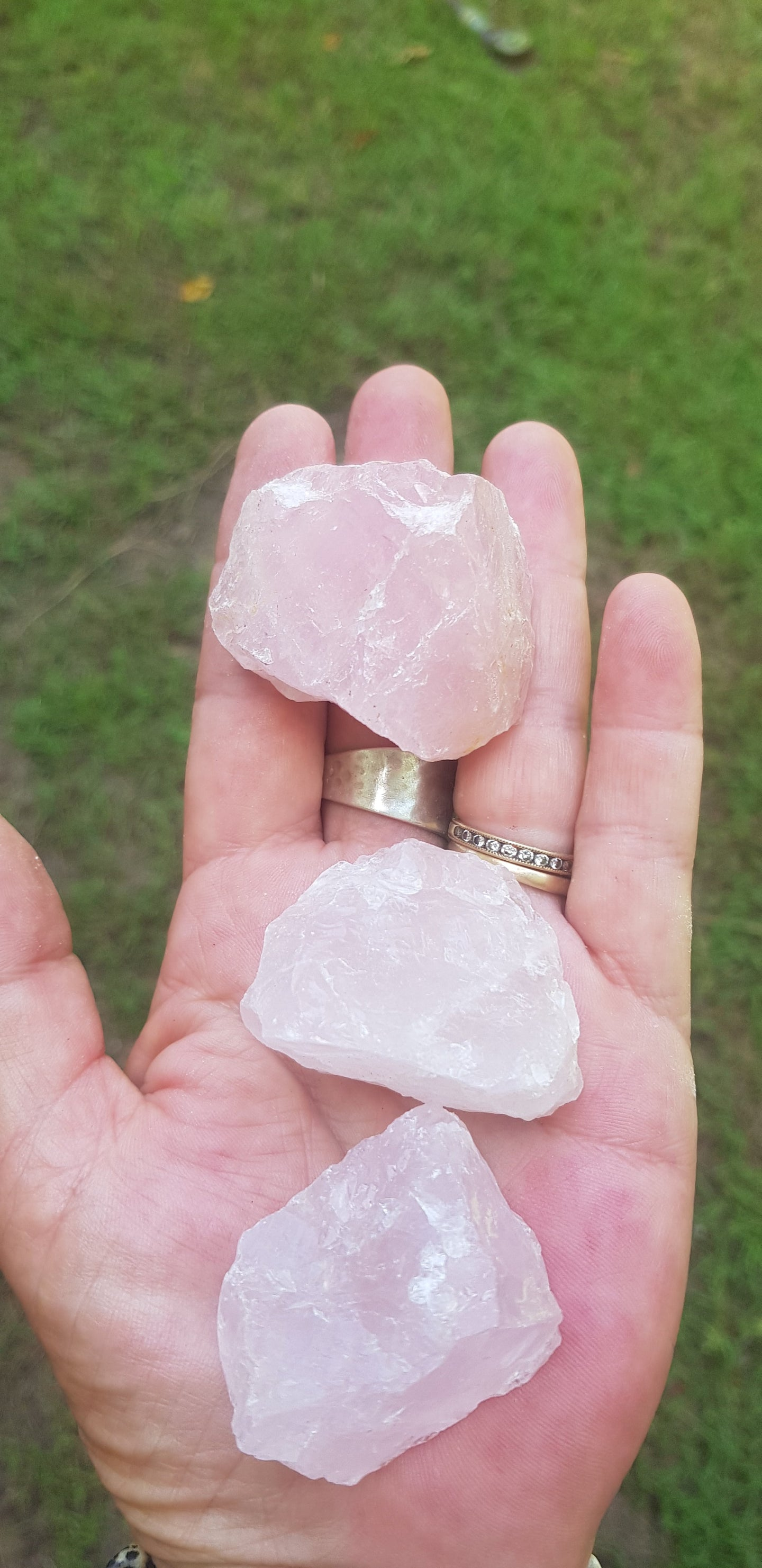 Rose Quartz Raw Chunks