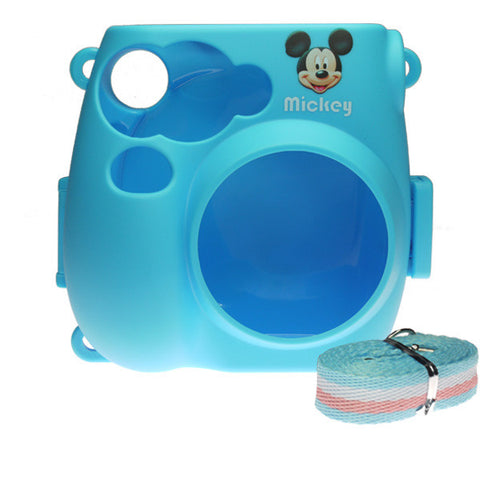 Fujifilm Instax Mini 7s Camera Protective Case with Shoulder Strap - Mickey Mouse