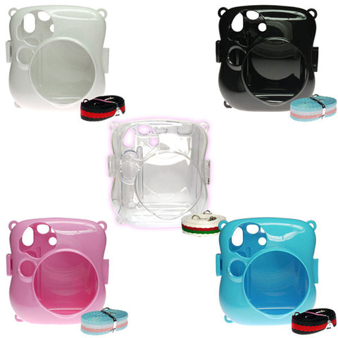 Fujifilm Instax Mini 25 Camera Protective Case with Shoulder Strap - 5 Colors