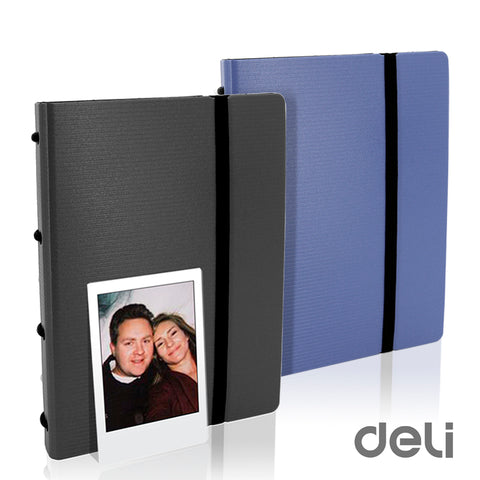 Deli Ring Binder Folder Album 120 Sheets for Fujifilm Instax Mini 7s 8 8+ 9 25 50s 70 90 & SP-2 3