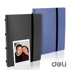 Deli Ring Binder Folder Album 120 Sheets for Fuji Fujifilm Instax Mini 7s 8 8+ 9 25 50s 70 90 SP-2 3 Instant Film