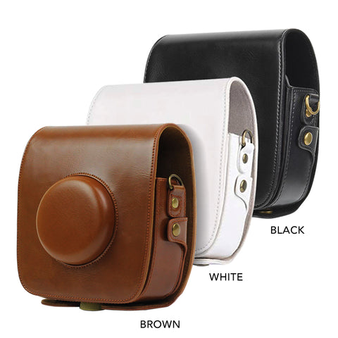 Fujifilm Instax SQUARE SQ10 Instant Camera Protective PU Leather Bag with Strap
