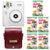 Fujifilm Instax Mini 50S Piano White Instant Camera + Instax Mini Film + Pen + Leather Case